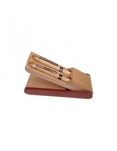00192 Astuccio in legno 2 posti
